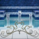 Elegant Iron and Glass Vase Centerpiece