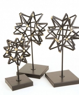 Geometric Sphere Sculptures (3)