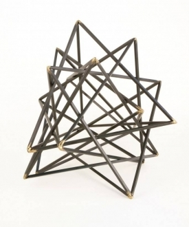 Black Geometric Sculpture