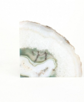 Green and White Agate Geode