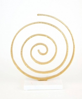 Gold Spiral Sculpture
