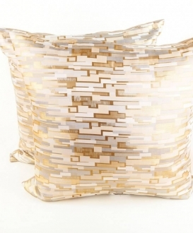 Metallic Gold and Silver Geometric Pillows