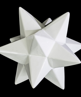 White Ceramic Geometric Star