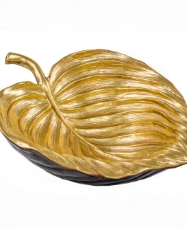 Large Gold Leaf Resin Bowl
